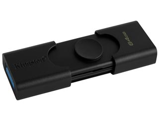 Kingston DataTraveler Duo Flash Drive - 64GB [DTDE/64GB] Εικόνα 1