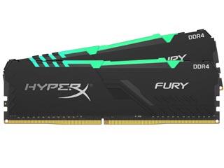 HyperX 32GB Fury RGB DDR4 3200MHz Non-ECC CL16 (Kit of 2) [HX432C16FB4AK2/32] Εικόνα 1