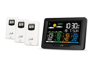 Life Continental Digital Thermometer / Hydrometer with Clock & 3 External Sensors Εικόνα 1