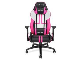 Anda Seat Gaming Chair Viper Black / White / Pink [AD7-05-BWP-PV] Εικόνα 1