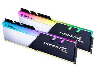 G.Skill 64GB Trident Z Neo DDR4 2x32GB 3600MHz Non-ECC CL18-22-22-42 Silver/Black [F4-3600C18D-64GTZN] Εικόνα 1