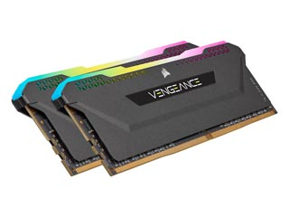 Corsair Vengeance RGB PRO SL 16GB DDR4 3600MHz CL18 (Kit of 2) - Black [CMH16GX4M2D3600C18] Εικόνα 1
