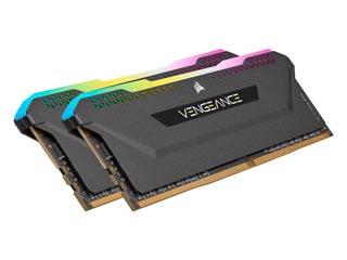 Corsair Vengeance RGB PRO SL 16GB DDR4 3600MHz CL18 (Kit of 2) - Black [CMH16GX4M2D3600C18] Εικόνα 1