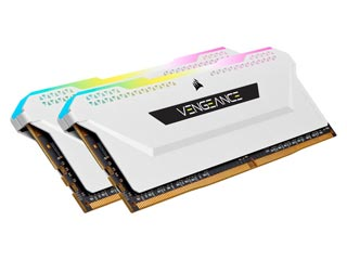 Corsair Vengeance RGB PRO SL 16GB DDR4 3600MHz CL18 (Kit of 2) - White [CMH16GX4M2D3600C18W] Εικόνα 1