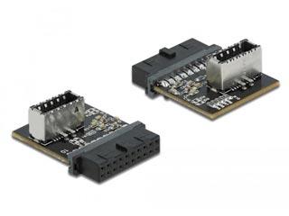 Delock USB 3.0 Adapter Pin Header (Female) to Internal Key A (Female) [66432] Εικόνα 1