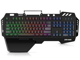 NOD Zero Dark RGB Gaming Keyboard - US Layout Εικόνα 1