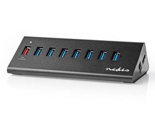 Nedis USB 3.0 - 8-port Hub [UHUBUP3810BK] Εικόνα 1