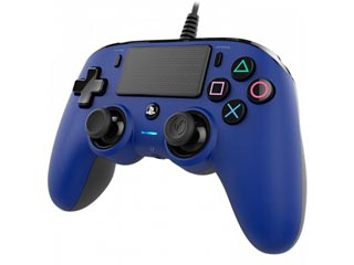 Nacon Wired Compact Controller for PS4 and PC - Blue [PS4OFCPADBLUE] Εικόνα 1