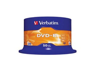 Verbatim DVD-R 50-Pack Spindle 16x Speed (4.7GB) [43548] Εικόνα 1